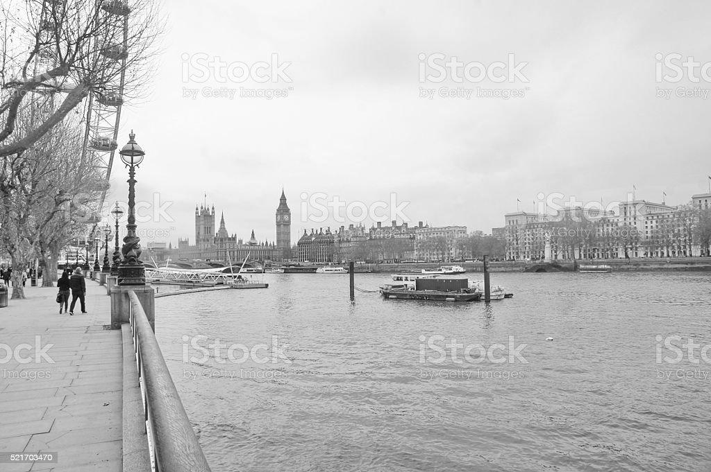 walk in thames river stock photo