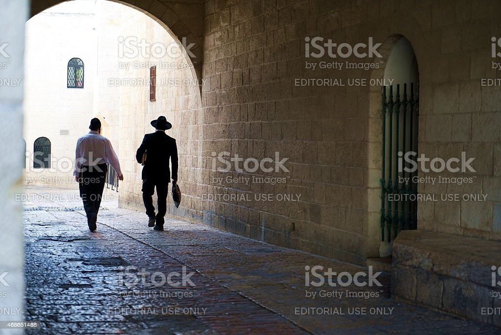 Walk in the Old City stock photo