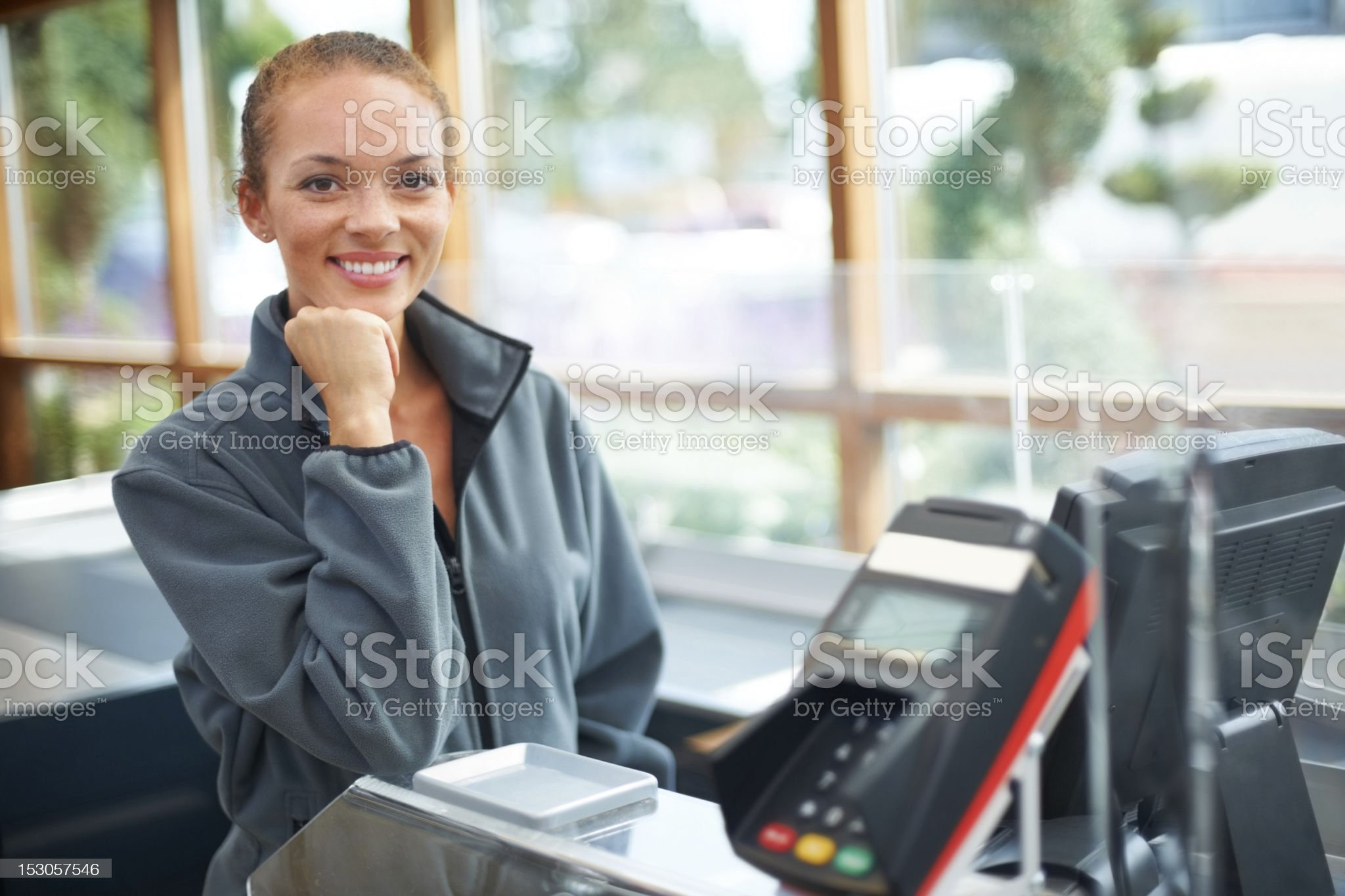Walk in to a smiling face royalty-free stock photo