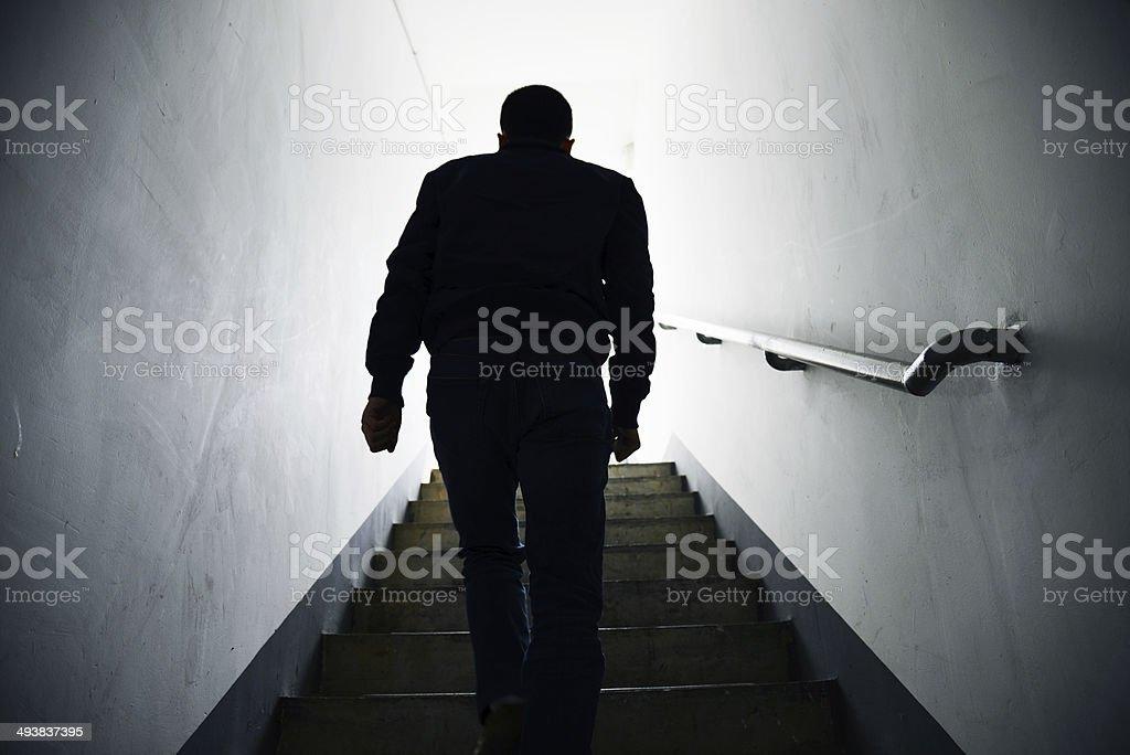 walk into the light stock photo