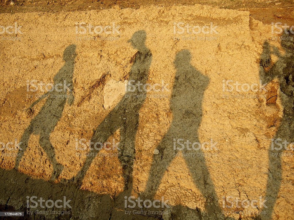 walk like an egyptian royalty-free stock photo