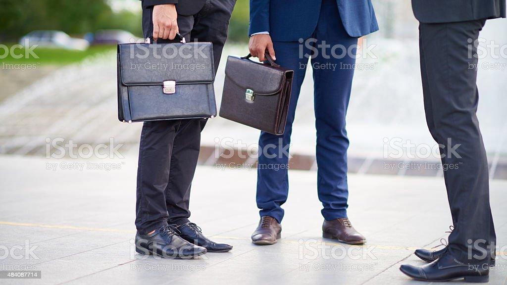 Walk of businessmen stock photo