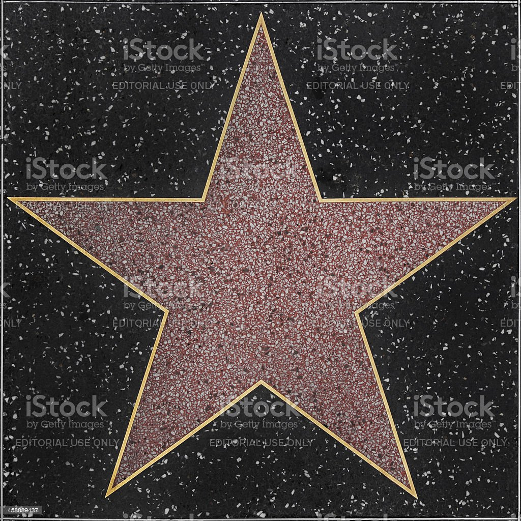 Walk of Fame Hollywood Blank Star stock photo