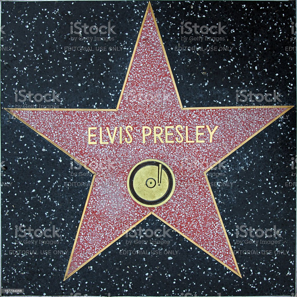 Walk of Fame Hollywood Star - Elvis Presley stock photo