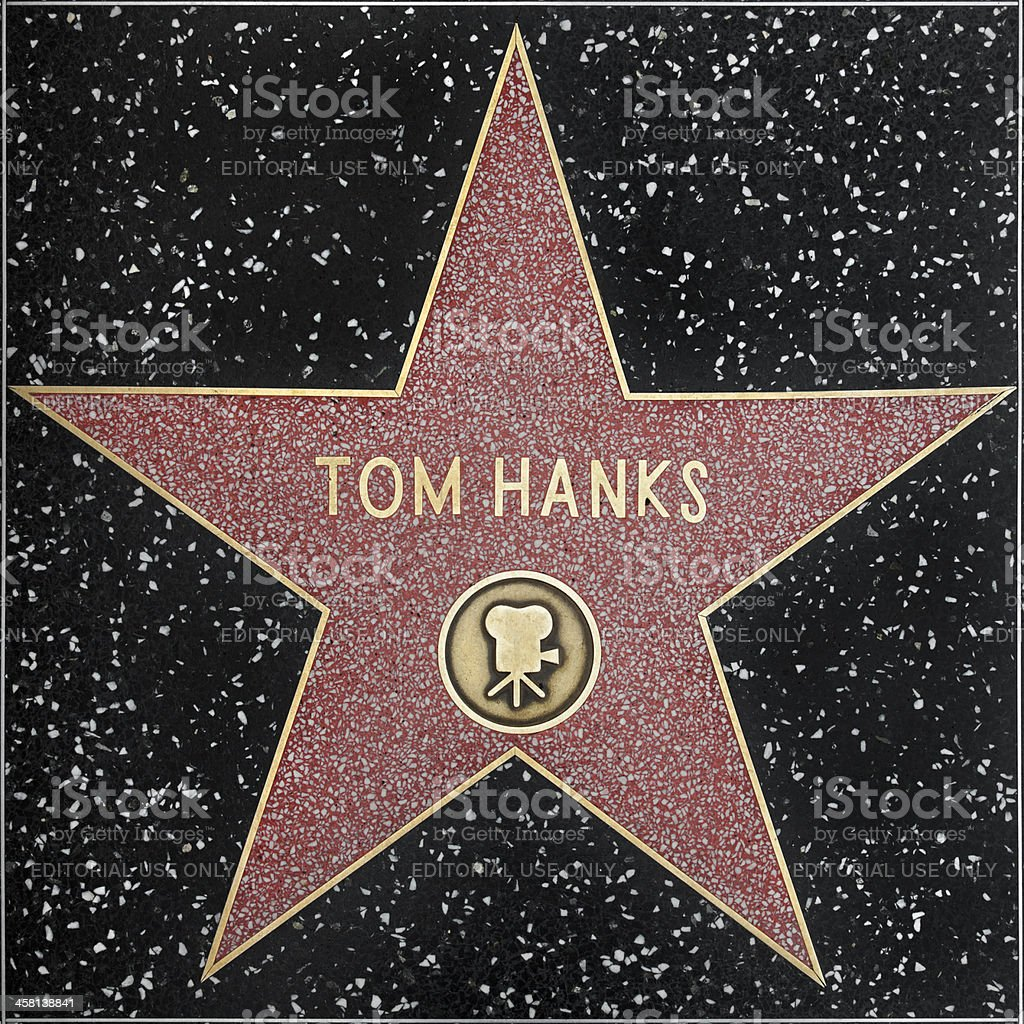 Walk of Fame Hollywood Star - Tom Hanks XXXL stock photo