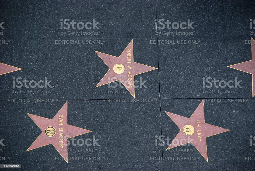 Walk of Fame in Hollywood, California - USA stock photo