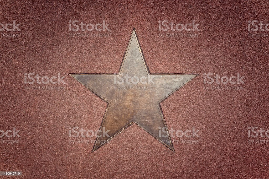 walk of fame star stern stock photo