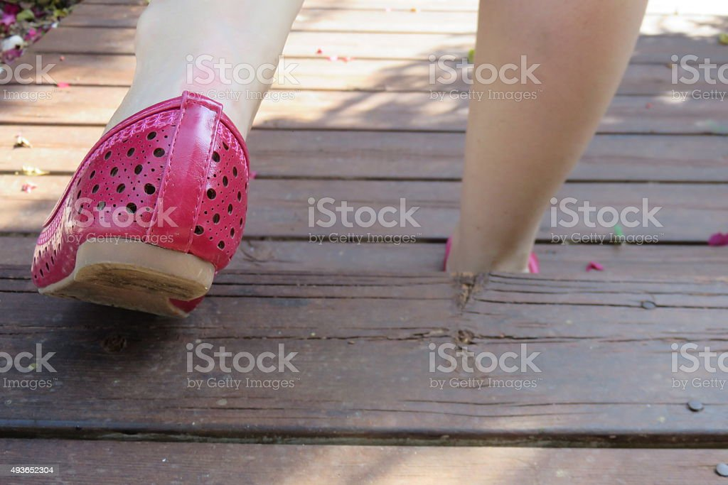 Walk of shame concept stock photo
