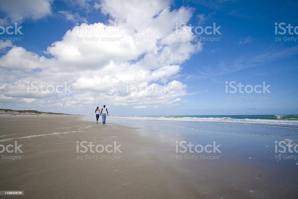 Walk on a beach royalty-free stock photo