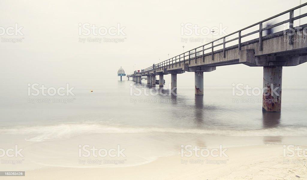 Pier of Zinnowitz / long exposure with motion blur
