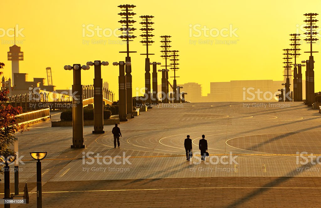 walk over the bridge royalty-free stock photo