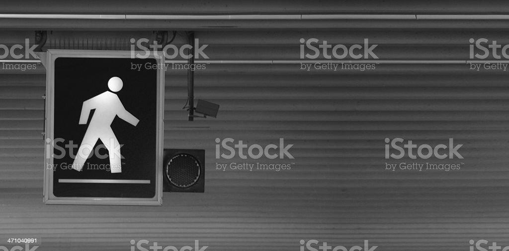 Walk signal stock photo