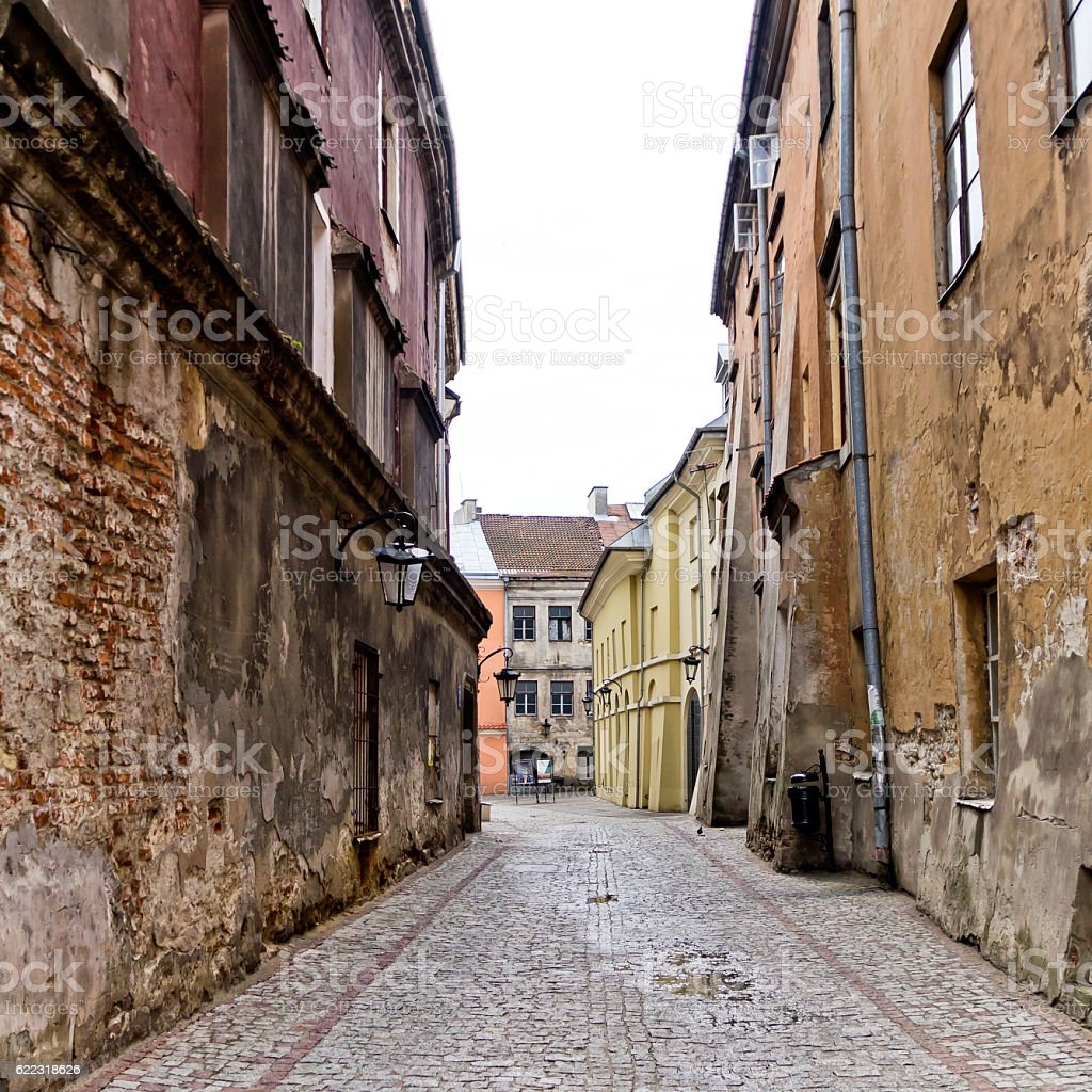 Walk the streets of the Old Town stock photo