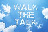 'walk the talk' cloud word