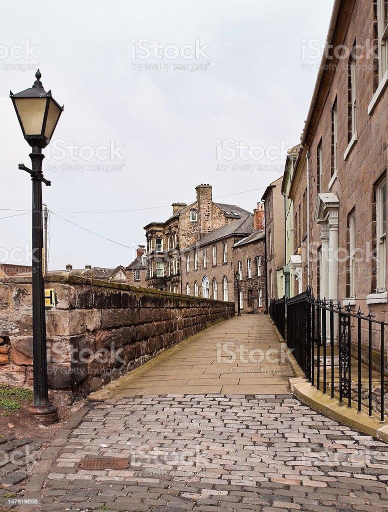 Walk the Walls at Berwick Upon Tweed in Portrait Format stock photo