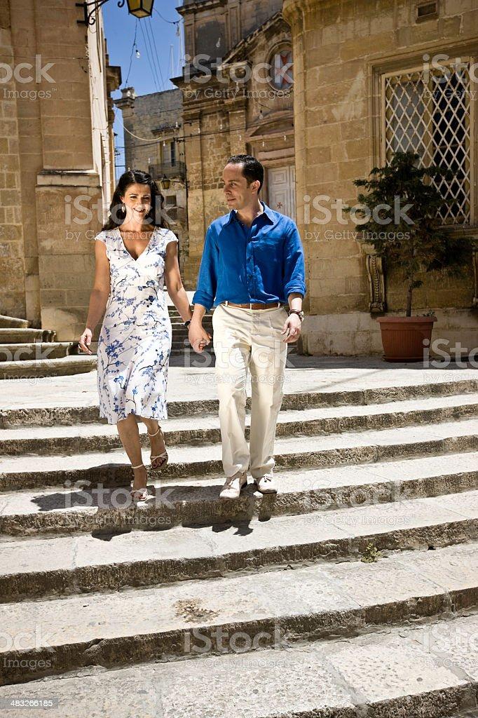 Walk through Old Town on Malta royalty-free stock photo