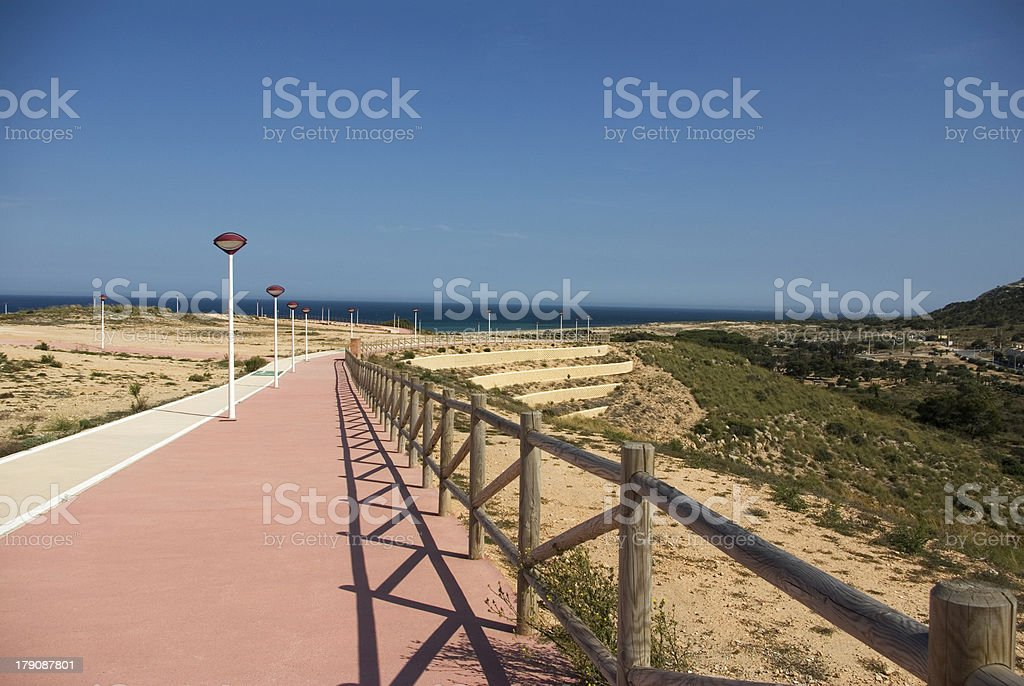 Paseo hacia la playa royalty-free stock photo