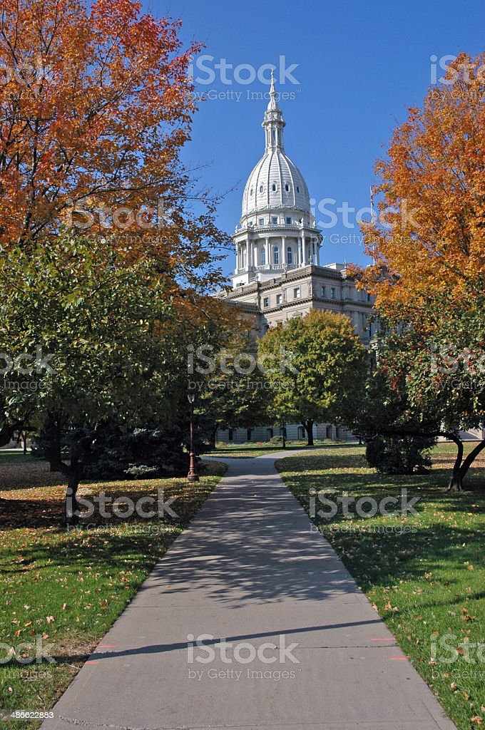 walk to the capitol stock photo