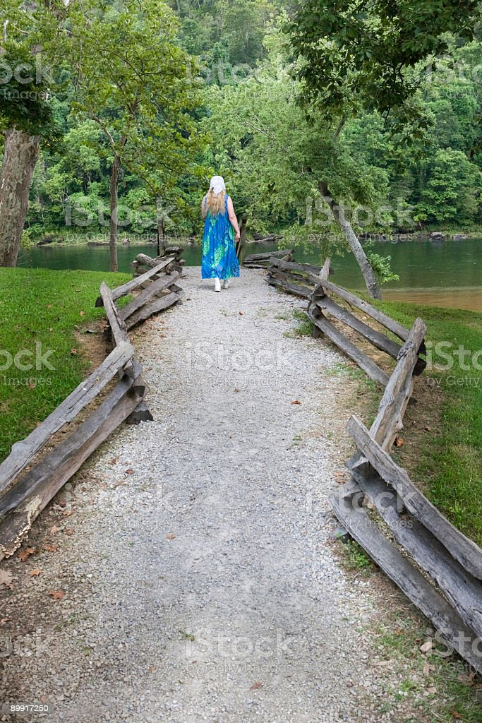 walk to the river royalty-free stock photo