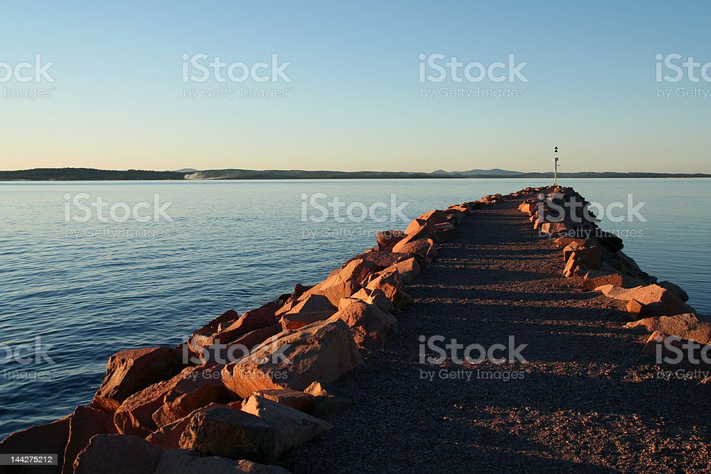 walk to the water royalty-free stock photo