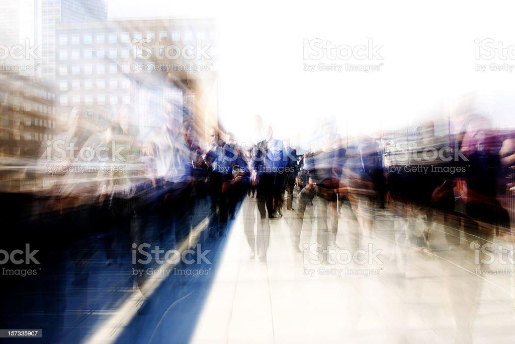 Walk to work royalty-free stock photo