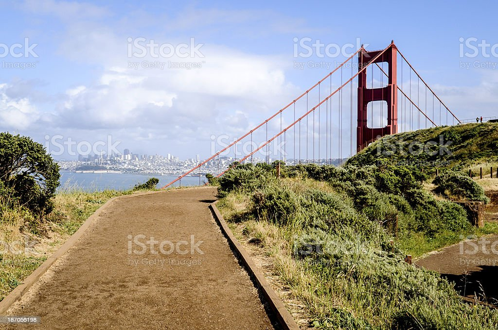 Walk Way to Lookout for Golden Gate Bridge royalty-free stock photo