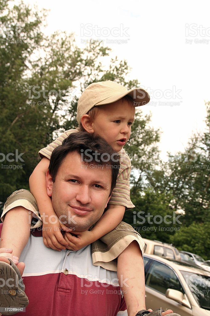Walk with the son royalty-free stock photo