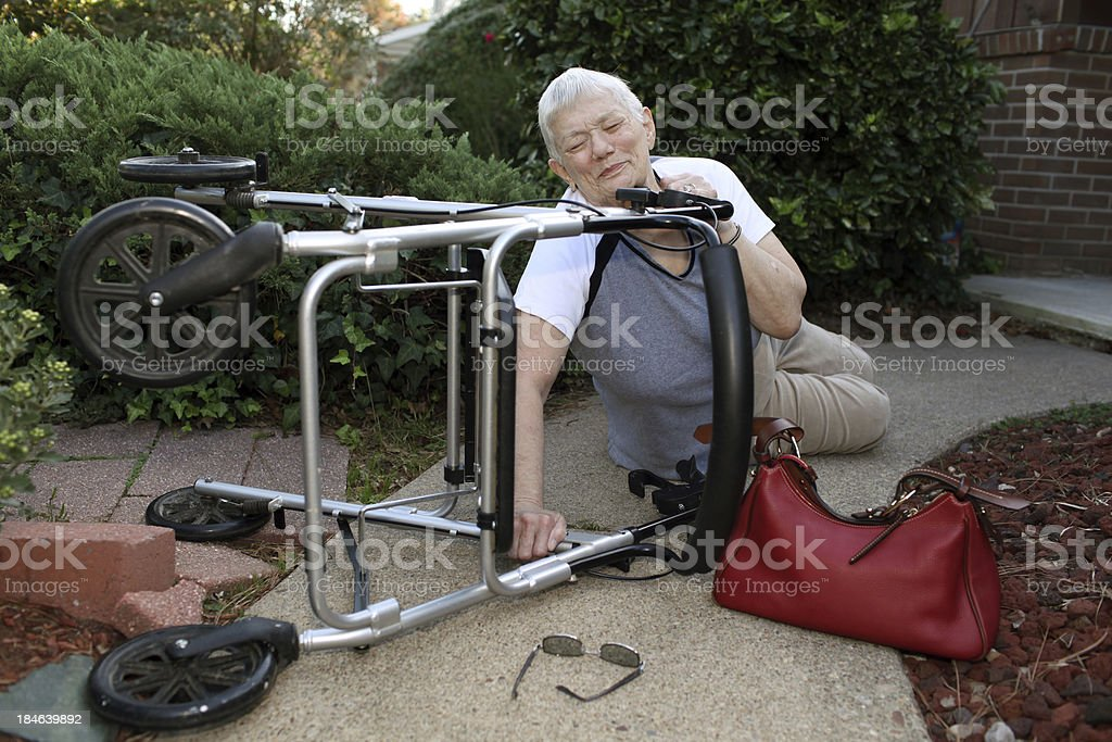 Walker Accident royalty-free stock photo