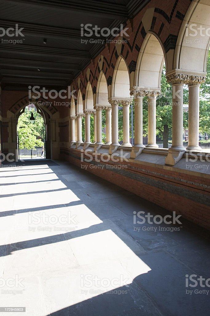 Walker porch in Memorial Hall, Cambridge, AM stock photo