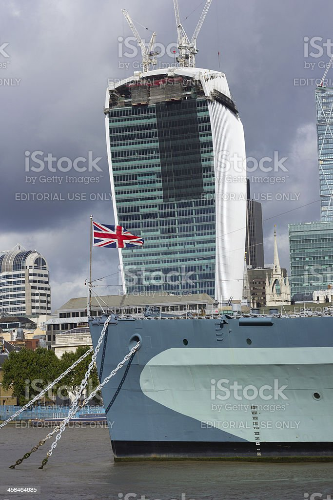 Walkie-Talkie Building in London, England royalty-free stock photo