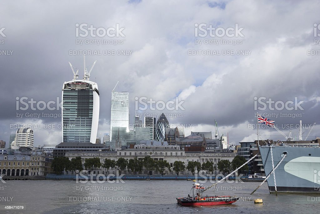 Walkie-Talkie Building in London, Englandd, UK royalty-free stock photo