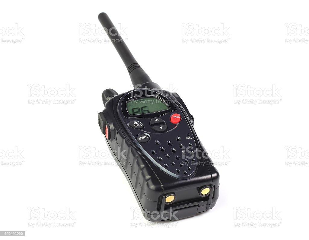 walkie-talkie on a white stock photo