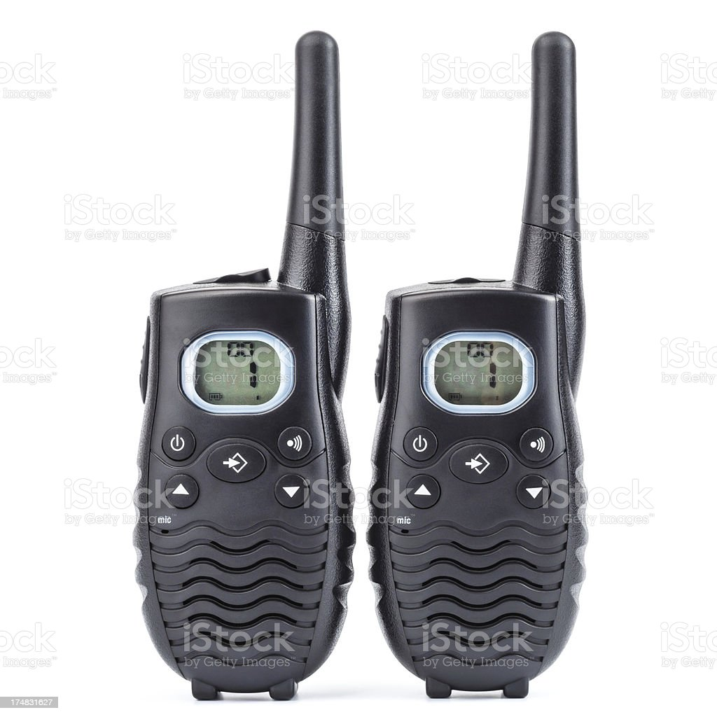 Walkie-talkies, isolated on white, clipping path stock photo