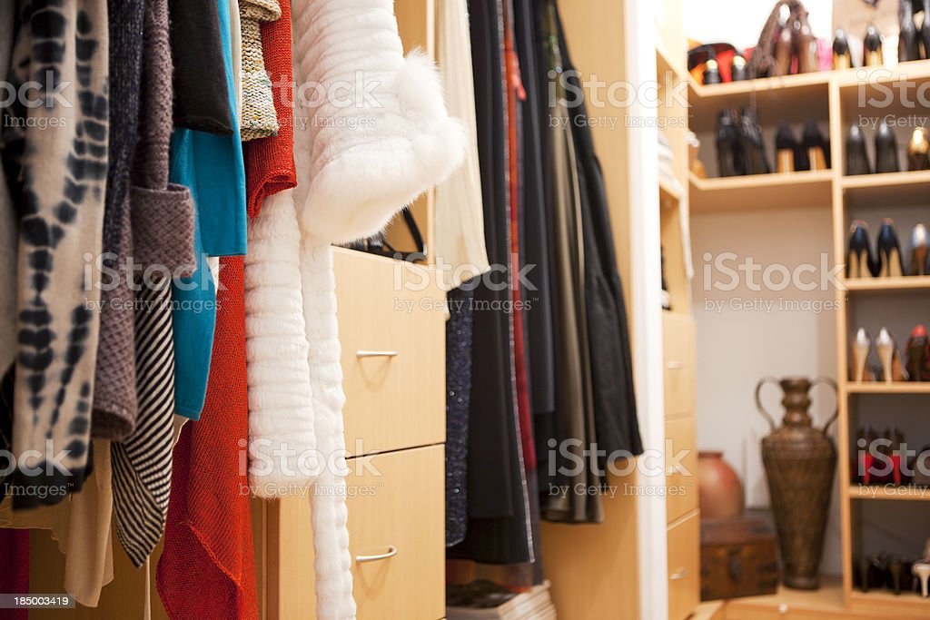 Walk-in closet stock photo