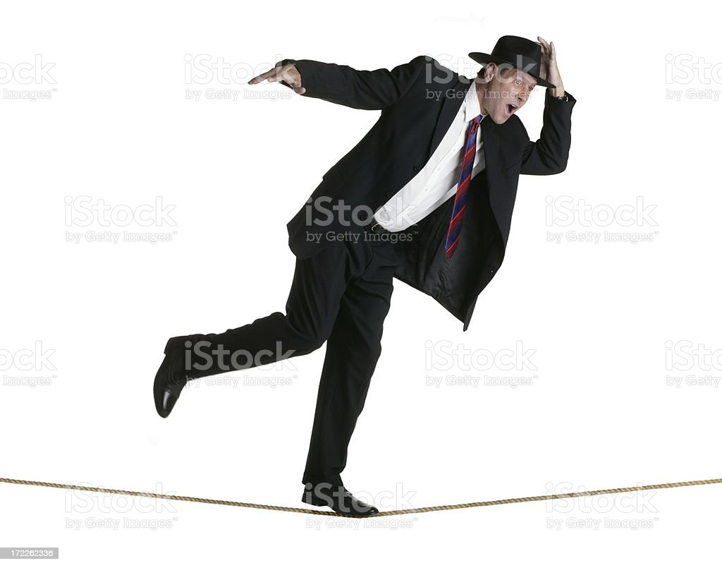 Walking a Tightrope royalty-free stock photo