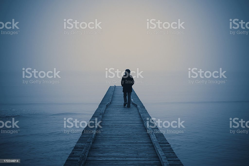 Walking Alone royalty-free stock photo