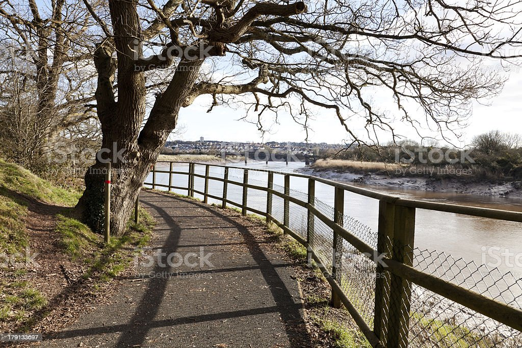 Walking And Cycle Route stock photo