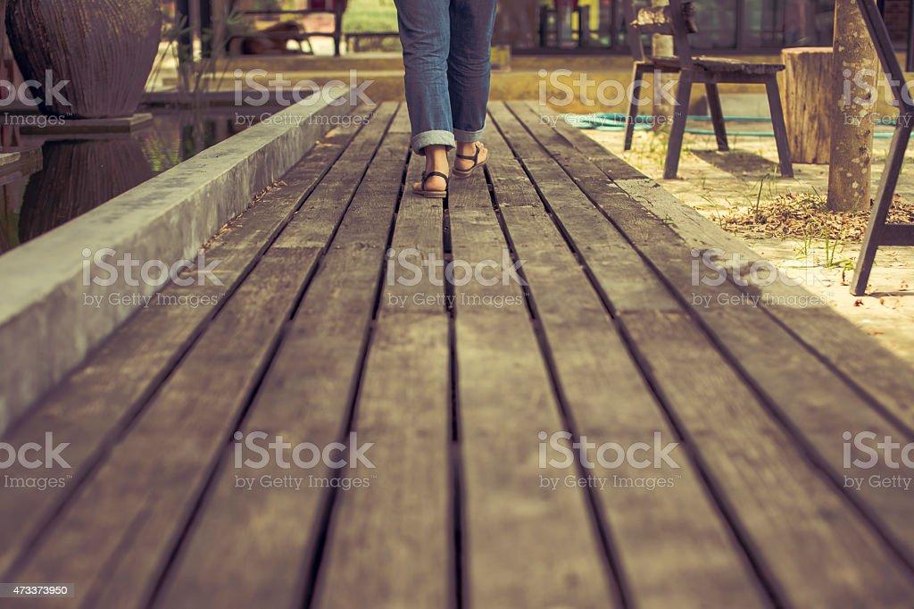 Walking and Forwarding royalty-free stock photo