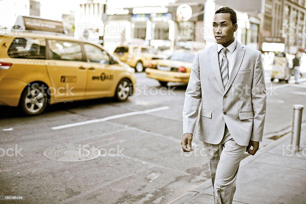 Walking around New York royalty-free stock photo