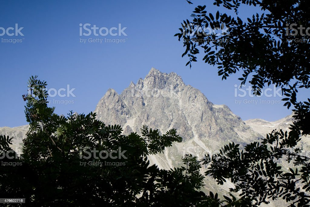 Walking around Sils Lake - Engadine valley - Grisons, Switzerland stock photo