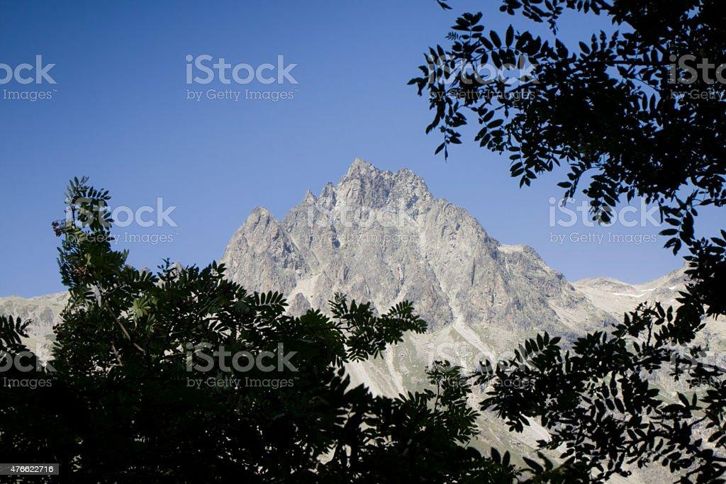 Walking around Sils Lake - Engadine valley - Grisons, Switzerland stock photo