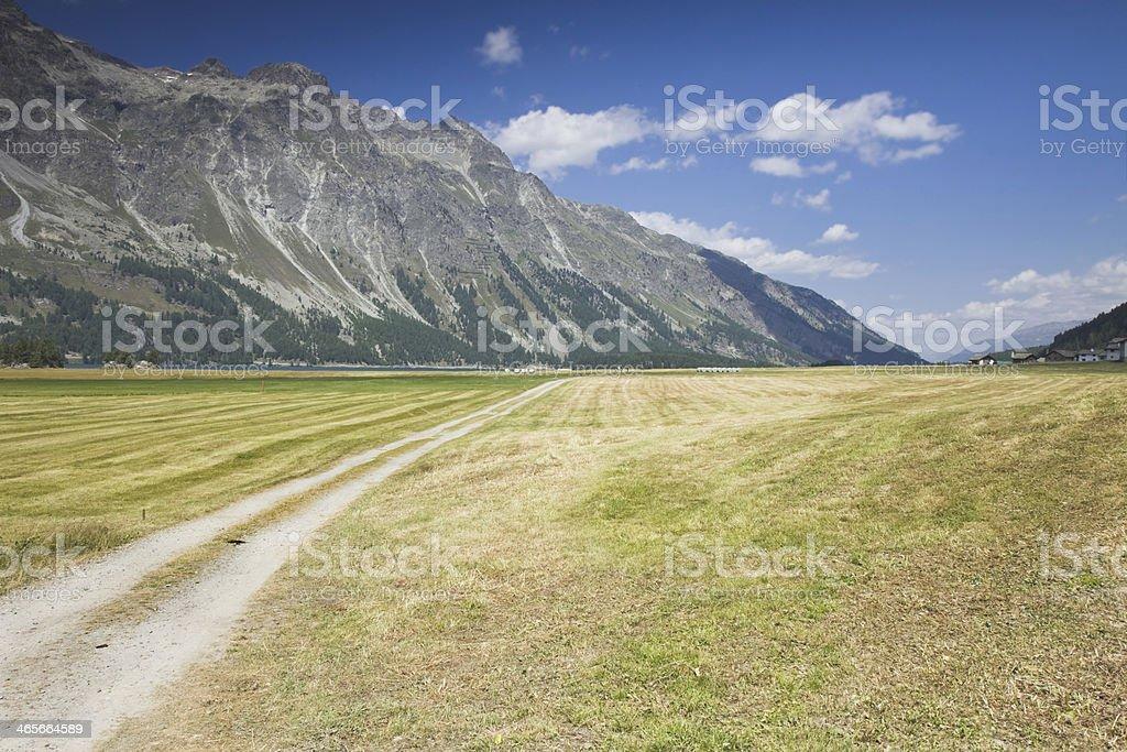 Walking around Sils lake (Switzerland) royalty-free stock photo