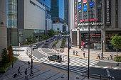 walking around yodobashi-umeda shopping district street in osaka japan
