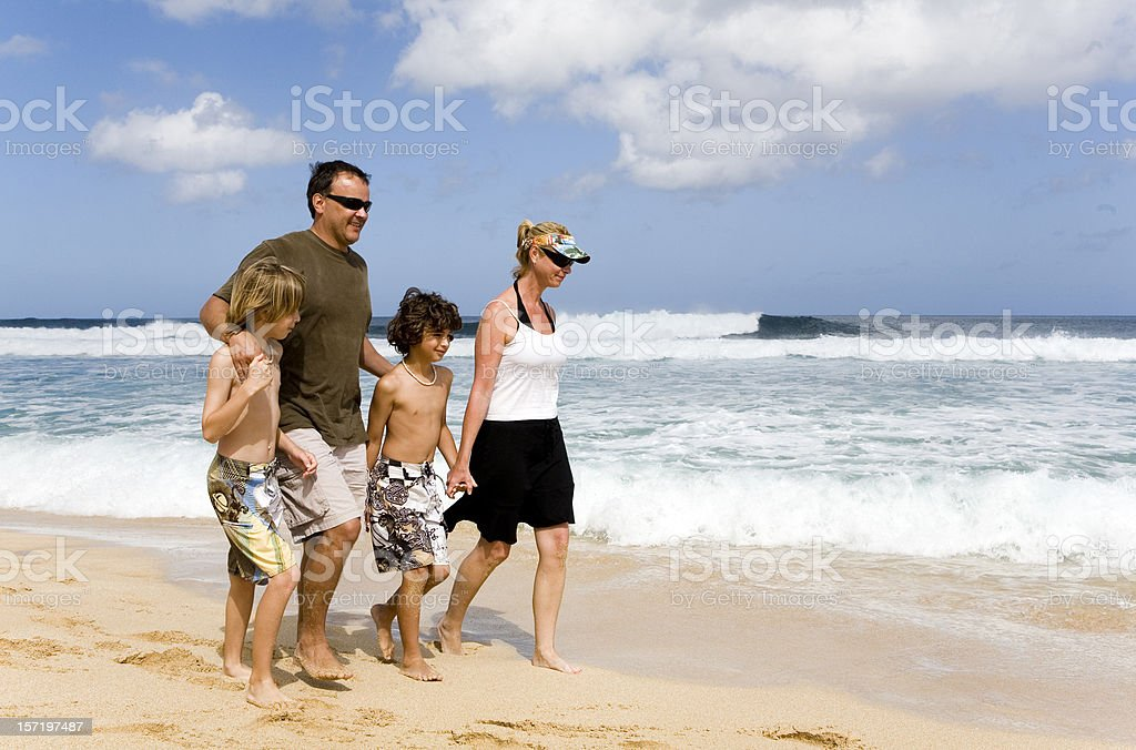 Walking At Pipeline royalty-free stock photo