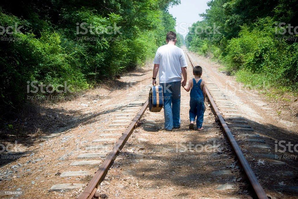 Walking Away royalty-free stock photo