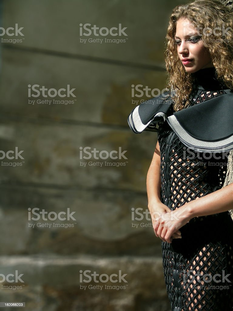 Walking beauty stock photo