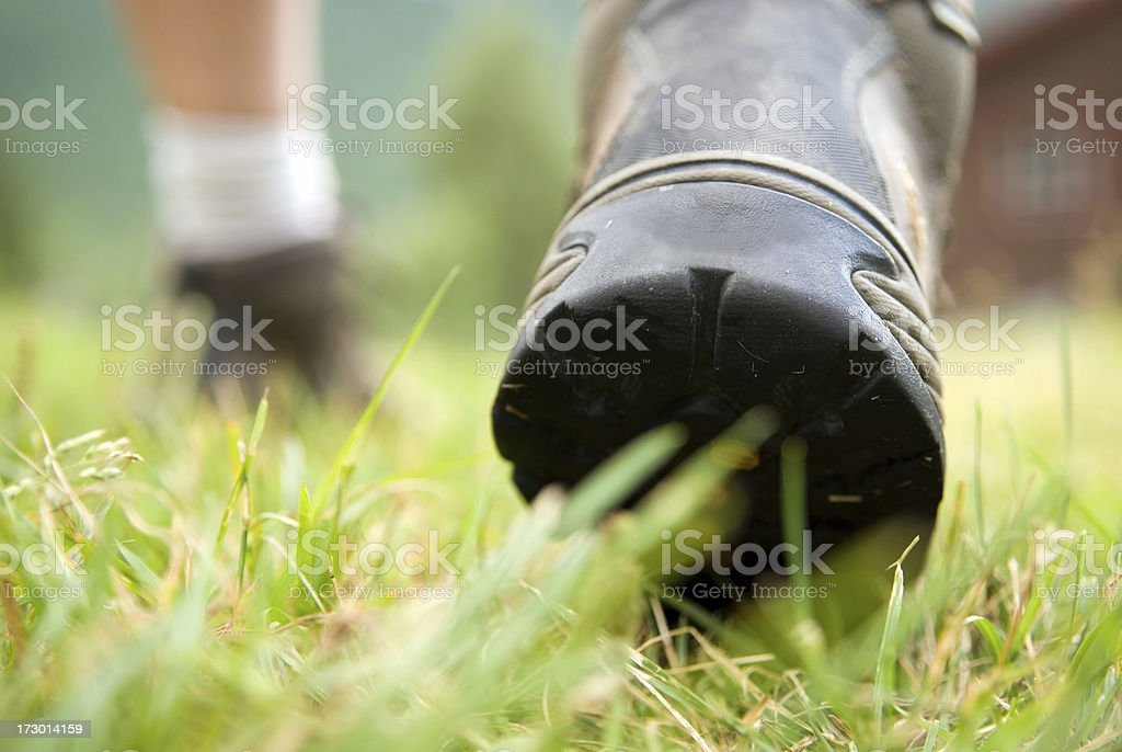 Walking boots. royalty-free stock photo