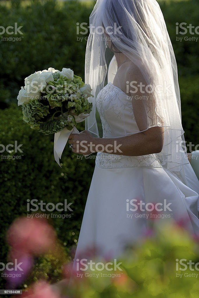 Walking bride royalty-free stock photo