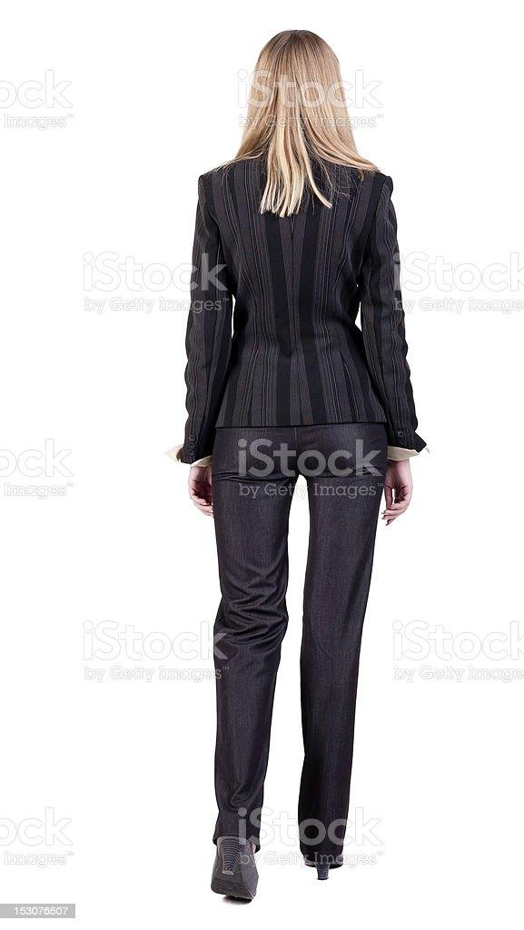 walking business woman royalty-free stock photo