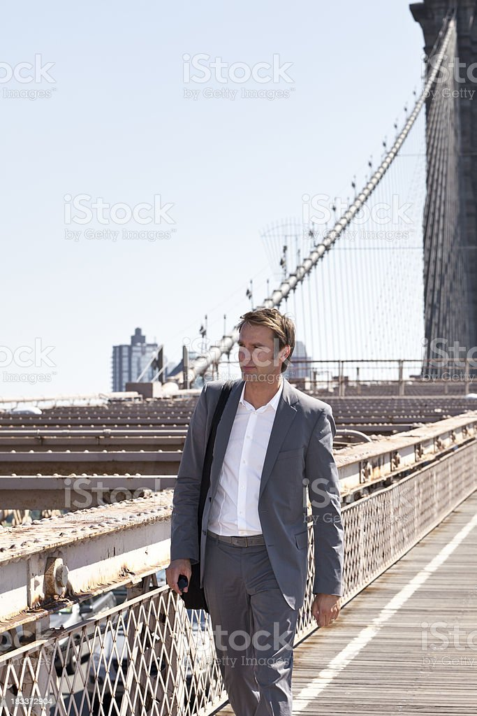 walking businessman royalty-free stock photo